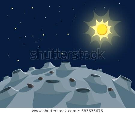 Desenho animado planeta vetor eps 10 céu Foto stock © rwgusev