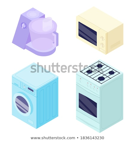 Set of different processors in 3D, vector illustration. Stock photo © kup1984