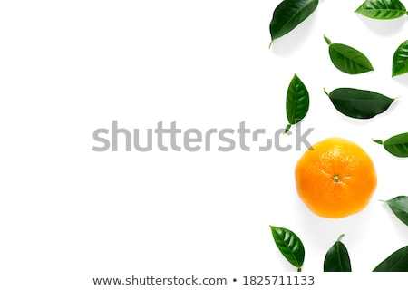 Stock photo: peeled and unpeeled tangerines