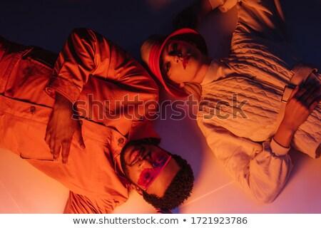 Aantrekkelijk poseren samen studio modieus Stockfoto © NeonShot
