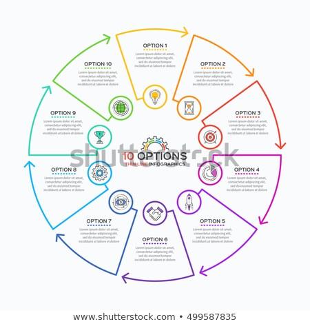 Dun lijn infographics sjabloon stappen cirkel Stockfoto © orson