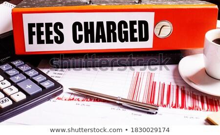 Piros iroda mappa felirat ár asztali Stock fotó © tashatuvango