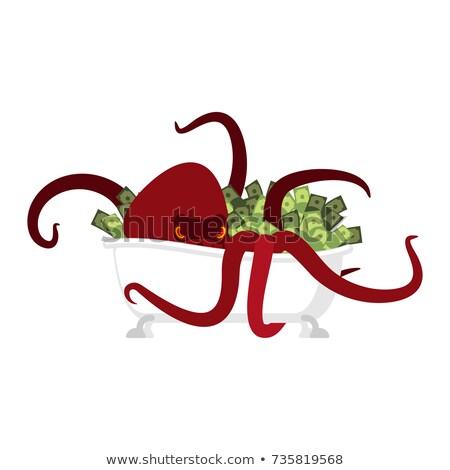 Monster dollar geïsoleerd geld octopus hand Stockfoto © MaryValery