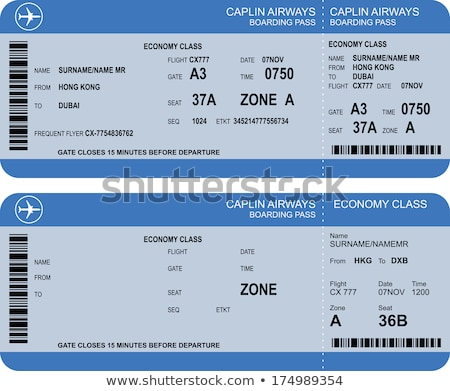 Air ticket with barcode, Airline boarding pass. Vector Stock photo © Andrei_