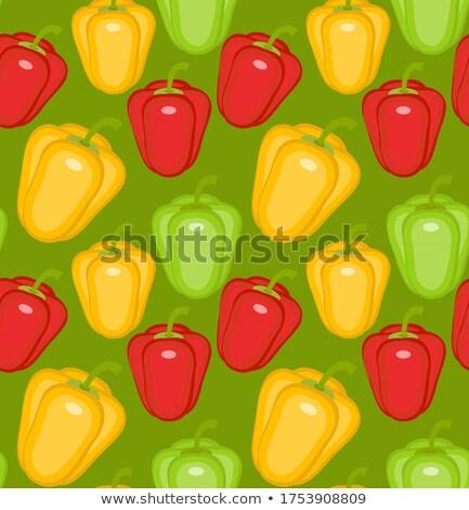 Pimenta páprica amarelo verde vermelho Foto stock © lucia_fox