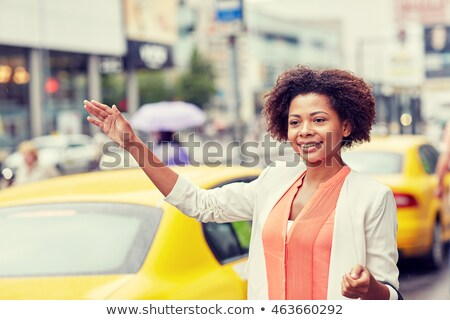 african american girl hitchhiking on road stock photo © lightfieldstudios
