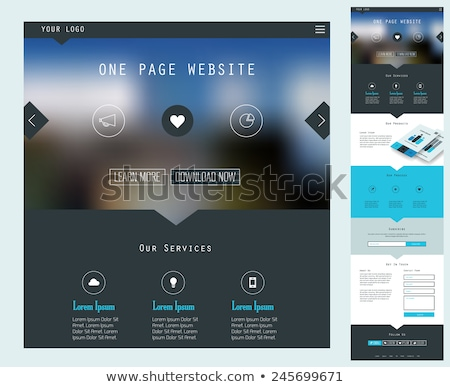 Web Template of Smartphone Email Form Stock photo © barsrsind