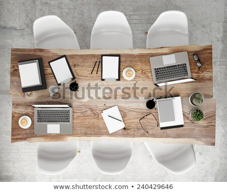 Internet Branding on Laptop in Meeting Room. 3D. Stock photo © tashatuvango