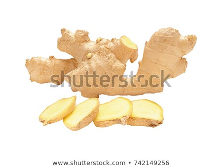 Pile fresh not peeled ginger roots Stock photo © Coffeechocolates