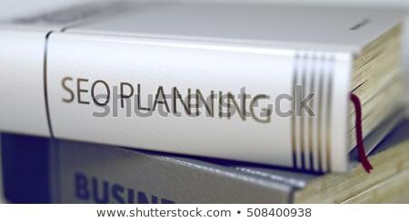 Seo Planning. Book Title on the Spine. 3D. Stock photo © tashatuvango