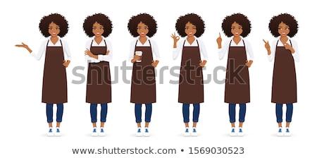 Black Chef or Baker Cartoon Stock photo © Krisdog