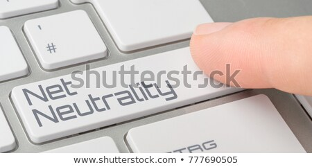 A keyboard with a labeled button - Net Neutrality Stock photo © Zerbor