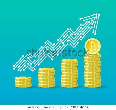 Bitcoin groei grafiek ontwerp business web Stockfoto © SArts