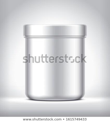 Stok fotoğraf: Gri · parlak · kupa · beyaz · 3D