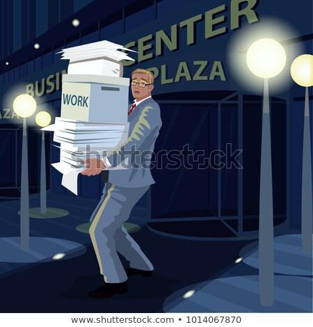 человека · документы · служба · домой · ночь - Сток-фото © alexanderandariadna