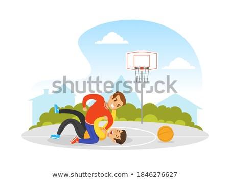 çatışma iki erkek basketbol örnek ders Stok fotoğraf © Olena