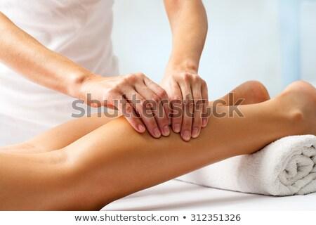 Been massage masseuse weinig Stockfoto © naumoid