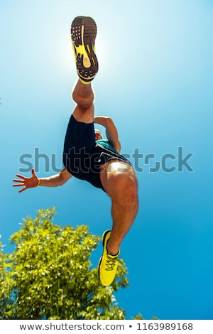 Low angle view of couple jogging Stock photo © IS2