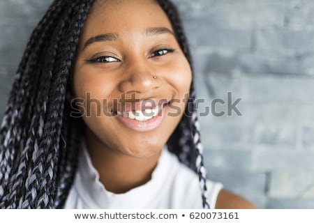 African american girl with pigtails Stock photo © IS2