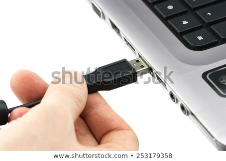 usb cable plug close up stock photo © stokkete