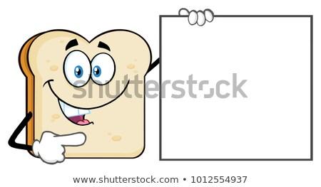 Hablar mascota de la historieta carácter senalando Foto stock © hittoon