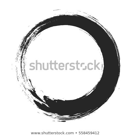 вектора Гранж круга щетка кадр изолированный Сток-фото © myfh88