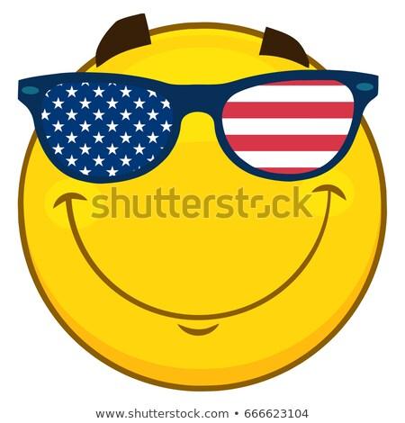 Sonriendo patriótico amarillo Cartoon cara carácter Foto stock © hittoon