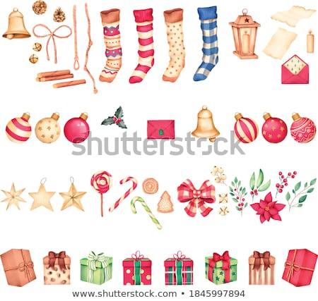 Сток-фото: Socks Winter With Snowflakes For Christmas Gifts Vector Illustr