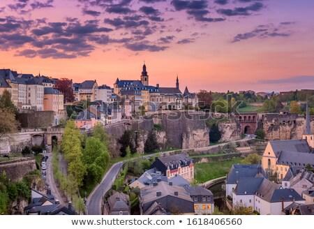 Panorama Luksemburg miasta wygaśnięcia Zdjęcia stock © benkrut