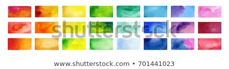 Blauw · aquarel · verf · vector · water · papier - stockfoto © sarts