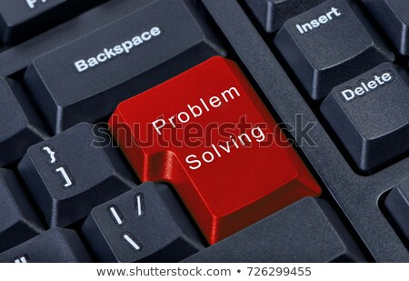 Problem Solving - Text on the Red Keyboard Button. 3D. Stock photo © tashatuvango