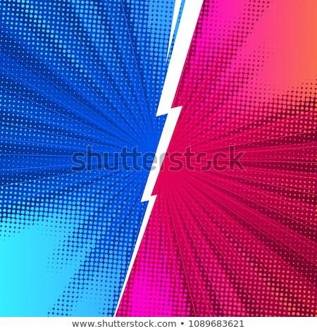 Vermelho azul ilustração adolescente sozinho Foto stock © colematt
