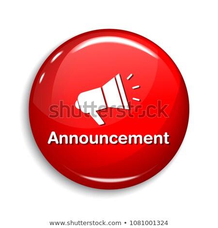 объявление вектора веб элемент кнопки Сток-фото © rizwanali3d