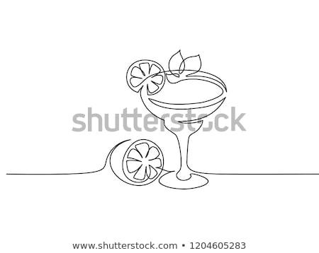 カクテル ドリンク リニア スタイル シルエット 飲料 ストックフォト © Olena