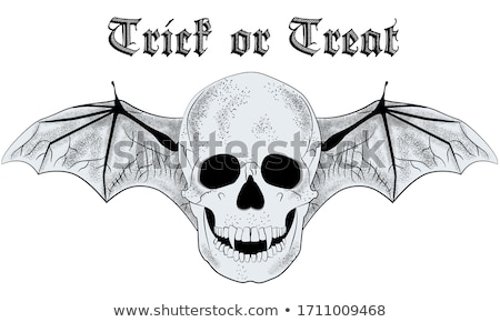 Winged Skull Drawing Stock photo © Krisdog