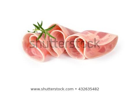 jamón · salchicha · blanco · rojo · grasa - foto stock © ungpaoman