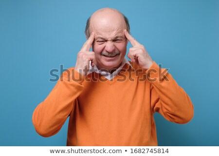 Işadamı parmaklar yetişkin adam gözlük Stok fotoğraf © ichiosea