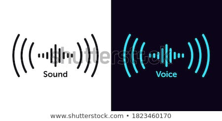 Voice search interface. Virtual search. Microphone icon for voice search. stock photo © AisberG