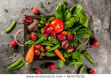 saine · coloré · alimentaire · fruits · légumes · feuille - photo stock © Illia