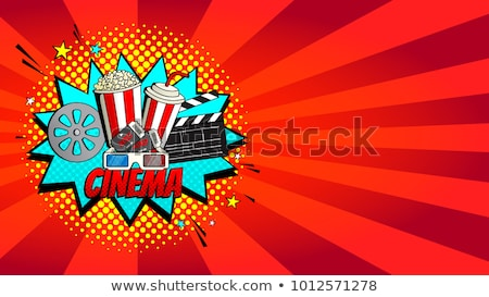 Cinema art movie watching - 3d glasses and tickets Stock photo © gomixer