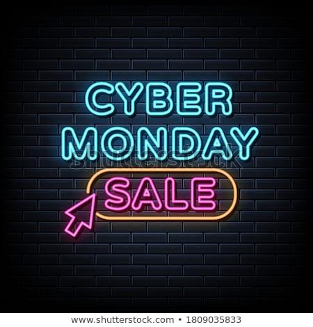 Cyber Monday Neon Banner Design Stock photo © Anna_leni