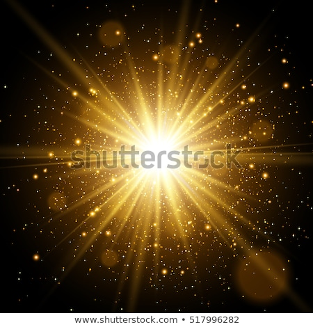 star burst with sparkles light effect gold glitter texture stock photo © olehsvetiukha