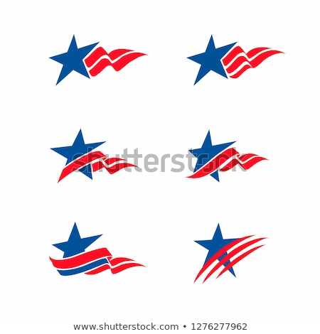American Flag Day Festival Patriotic Stickers Stock photo © robuart