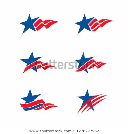 Amerikaanse vlag dag festival vaderlandslievend stickers Stockfoto © robuart