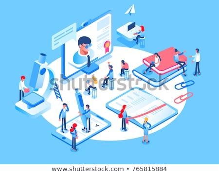 Línea educación vector webinar Foto stock © TarikVision