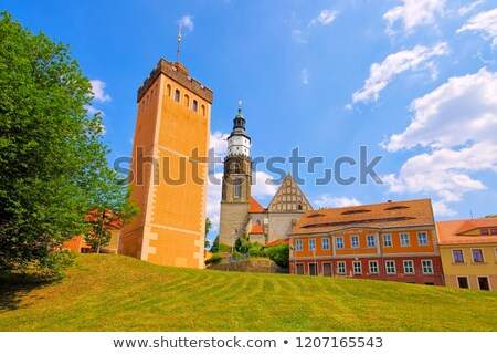kamenz red tower and church saxony stock photo © lianem