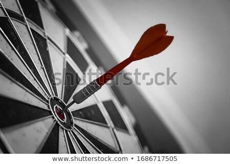 azul · dardo · alvo · branco · negócio · esportes - foto stock © oblachko