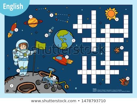 Büyü İngilizce kelime astronot örnek okul Stok fotoğraf © bluering