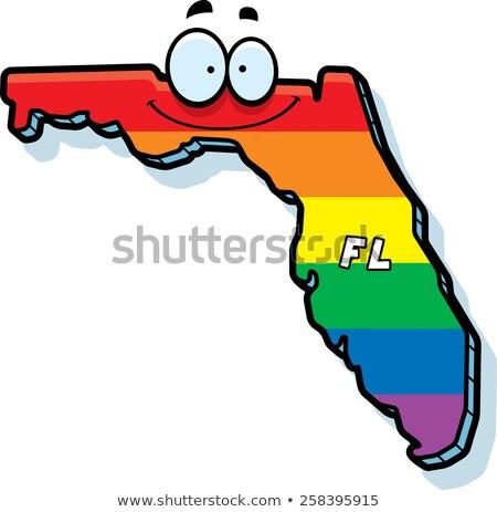 Cartoon Floride illustration souriant Rainbow Photo stock © cthoman