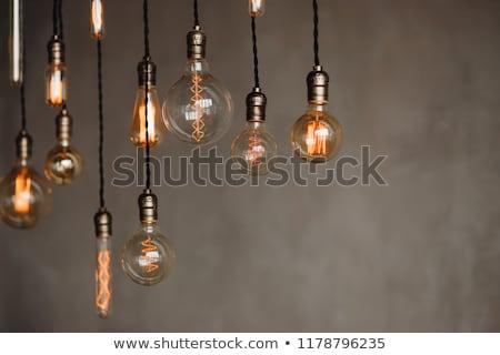 Set edison retro lamp on loft gray concrete background stock photo © ruslanshramko